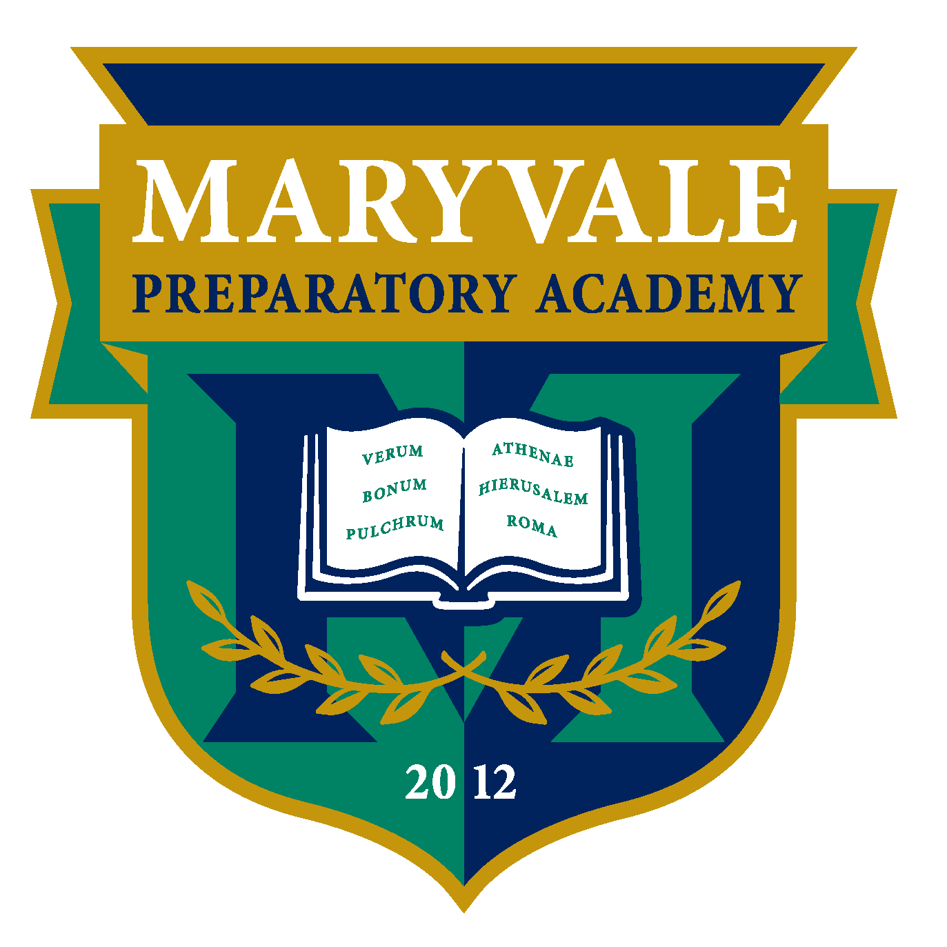 Great Hearts Maryvale Prep, Serving Grades K-10 School Crest